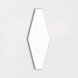 Royal White Glossy Longest Hexagon Ceramic Tiles 3x7 7/8