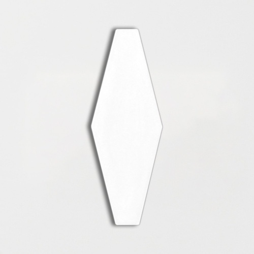 Royal White Glossy Longest Hexagon Ceramic Tiles 3×7 7/8