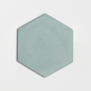 Witty Green Glossy Hexagon Ceramic Tiles 5