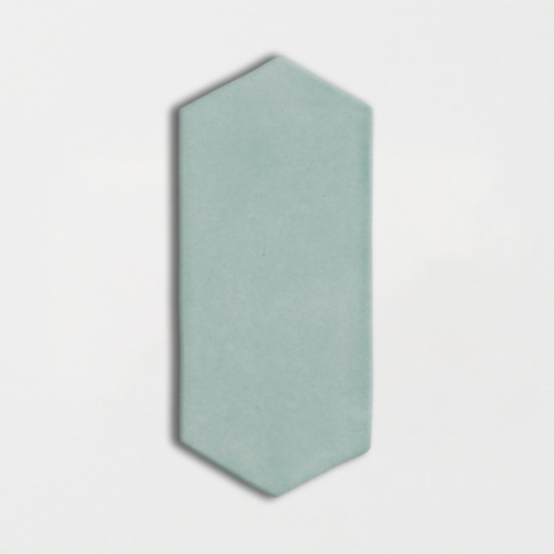 Witty Green Glossy Picket Ceramic Tiles 3×6