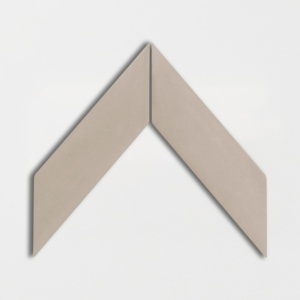 Latte Glossy Chevron Ceramic Tiles 2x6