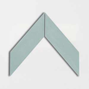 Witty Green Glossy Chevron Ceramic Tiles 2x6