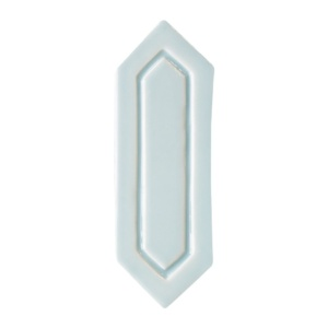 Jules Glossy Reliefed Picket Ceramic Wall Decos 2x6