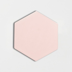 Rosie Glossy Hexagon 5 Ceramic Tiles 5