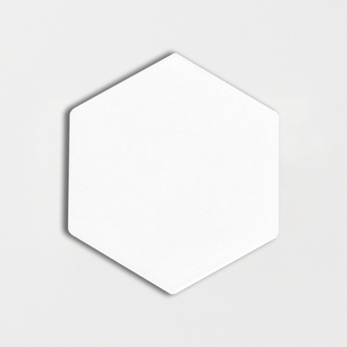 Royal White Glossy Hexagon 5 Ceramic Tiles
