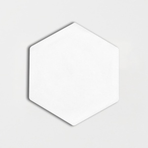 Satin Cotton Matte Hexagon 5 Ceramic Tiles 5