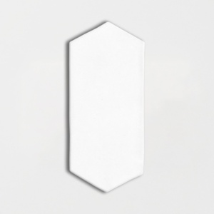 Royal White Glossy Picket Ceramic Tiles 3x6