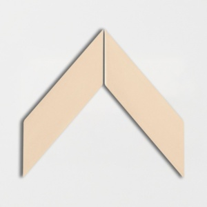 Honey Glossy Chevron Ceramic Tiles 2x6