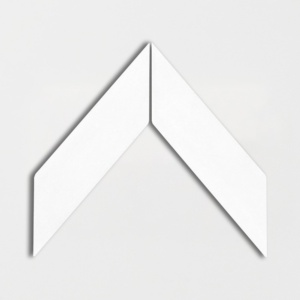 Satin Cotton Matte Chevron Ceramic Tiles 2x6