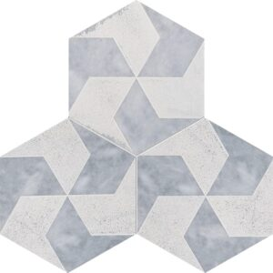 Allure Diced Polygons Marble Tiles 8x8
