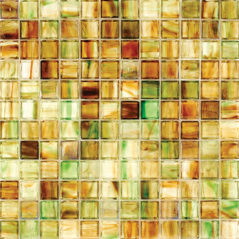 Mare Jade Polished 12x12 1x1 Glass Mosaics
