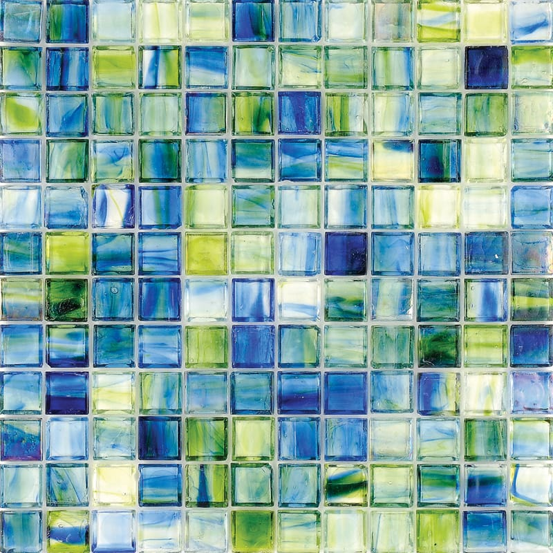 Mare Azul Polished 12x12 1x1 Glass Mosaics
