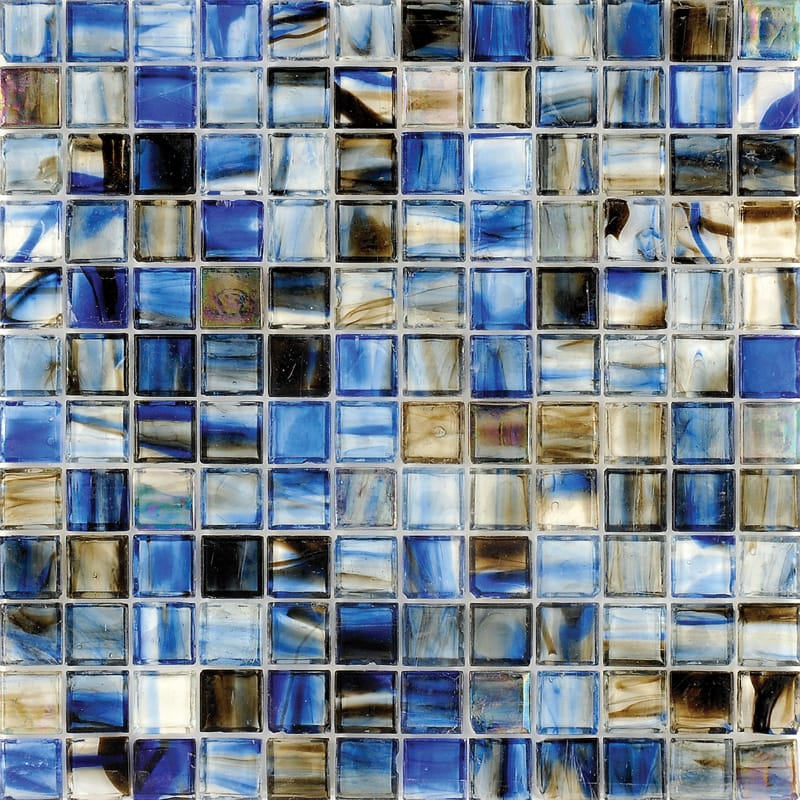 Mare Blue Polished 12x12 1x1 Glass Mosaics