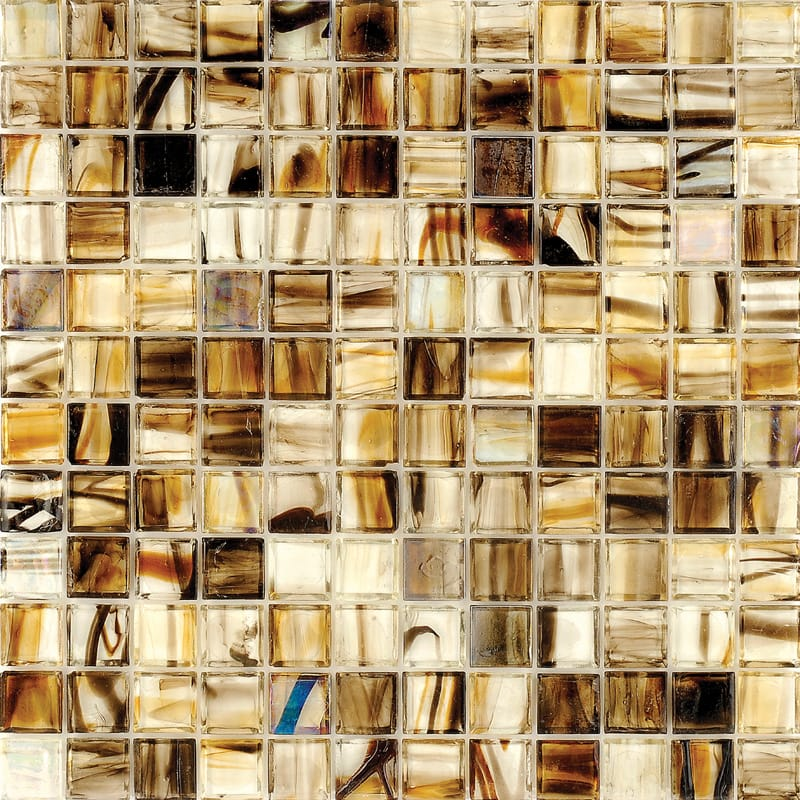 Mare Coco Polished 12x12 1x1 Glass Mosaics