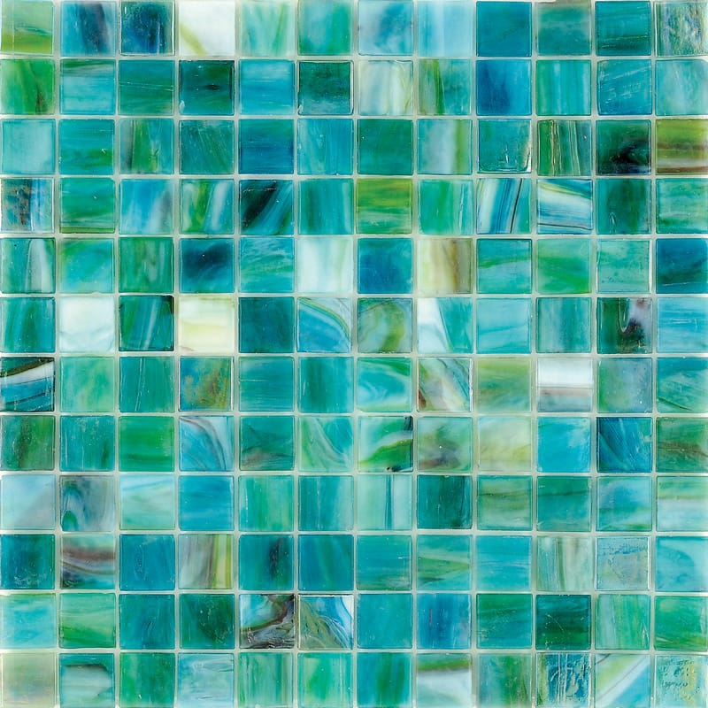 Mare Tea Polished 12x12 1x1 Glass Mosaics