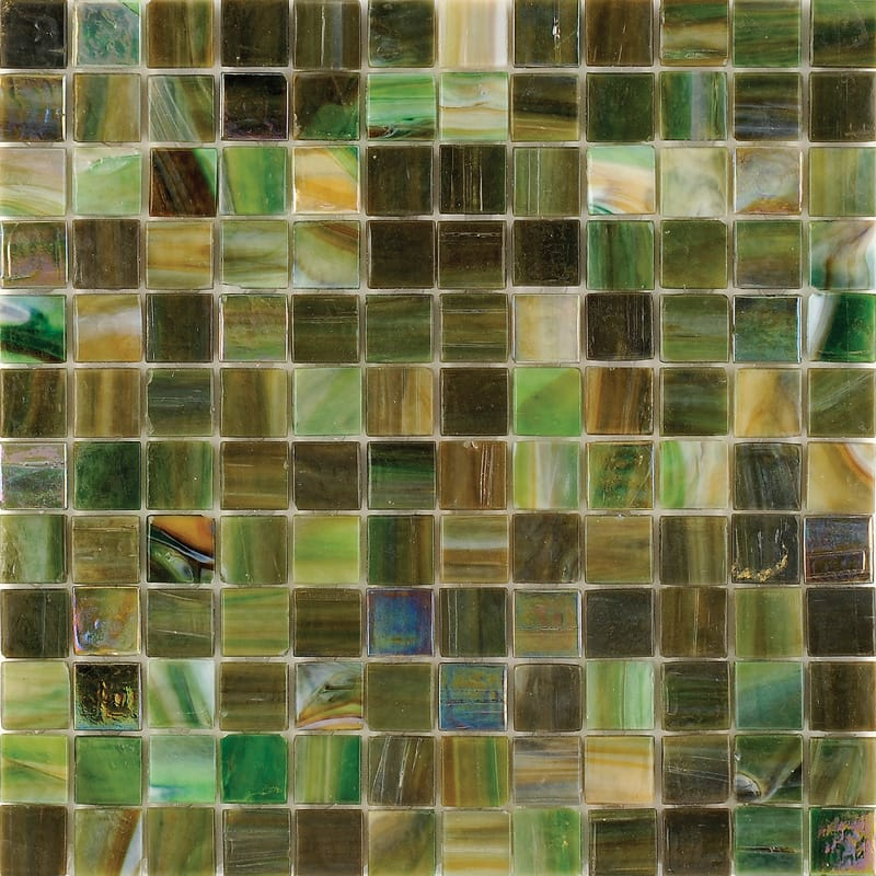 Mare Verde Polished 12x12 1x1 Glass Mosaics