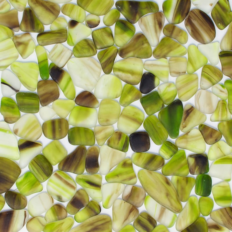 Giallo Verdino Matte Beach Glass Mosaics 12x12