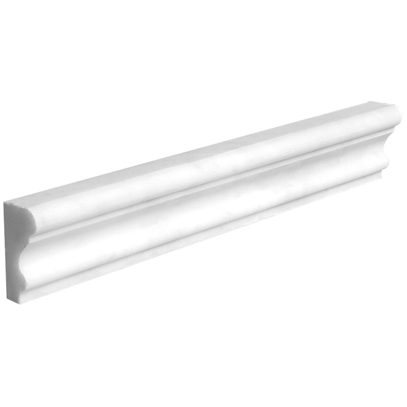 Thassos White Polished Andorra Marble Mouldings 2x12