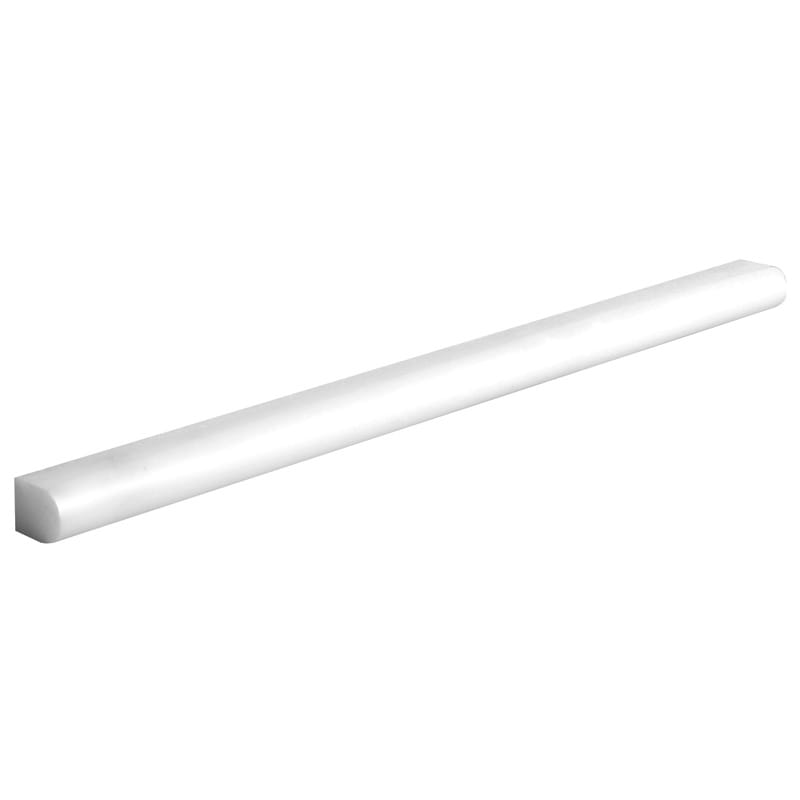 Thassos White Polished Pencil Liner Marble Mouldings 1/2x12