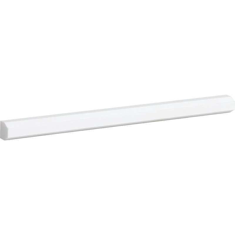 Aspen White Honed 1/2x12 Pencil Liner Marble Mouldings