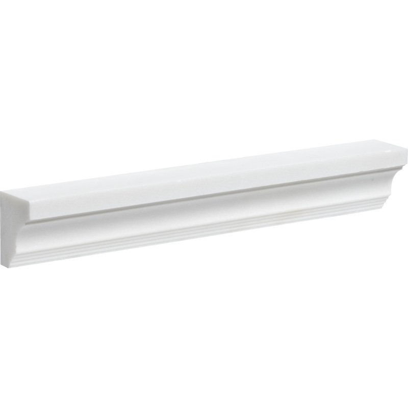 Aspen White Honed 2x12 Cornice Marble Mouldings
