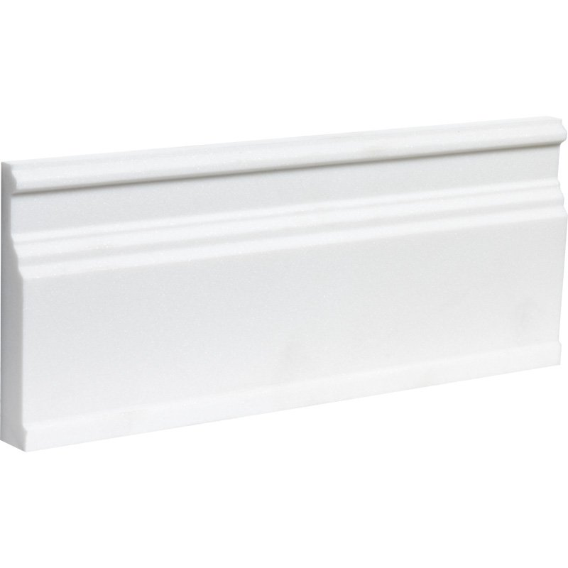 Aspen White Honed 5 1/16x12 Base Marble Mouldings