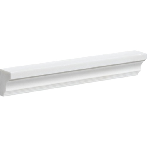 Aspen White Polished Cornice Marble Moldings 2×12