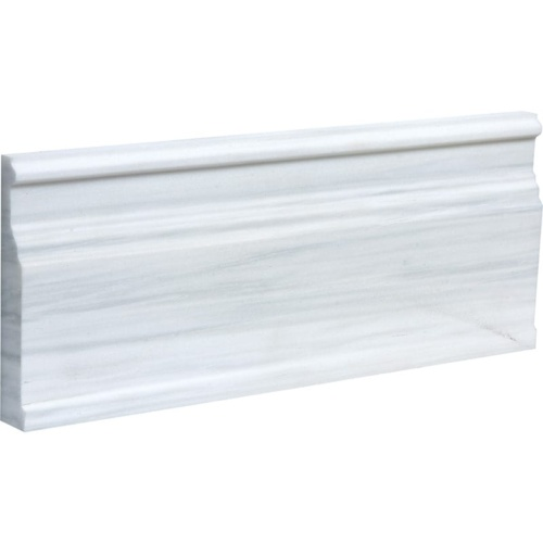 Bianco Dolomiti Classic Polished Modern Base Marble Moldings 5 1/16×12