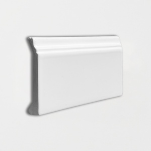 Royal White Glossy Base Trim Ceramic Moldings 4 3/16x6