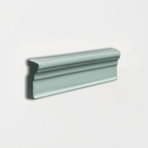 Witty Green Glossy Ogee Trim Ceramic Moldings 2×6