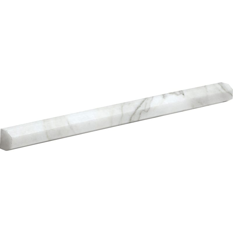 Calacatta Gold Polished 11/16x12 Pencil Liner Marble Mouldings