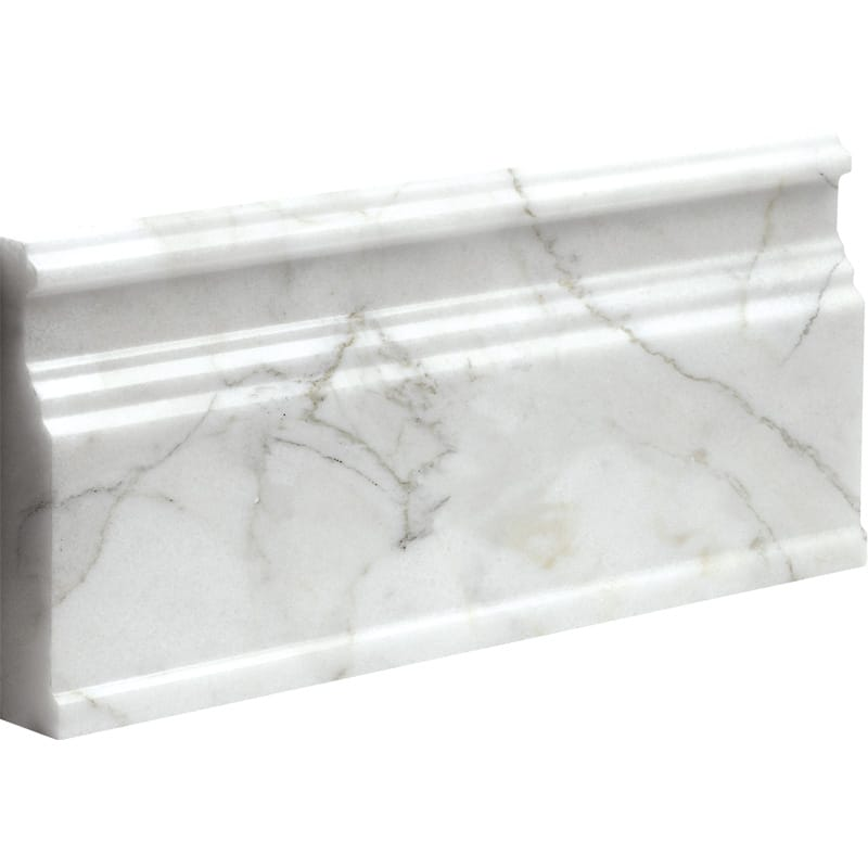 Calacatta Gold Polished Base Marble Mouldings 5 1/16x12