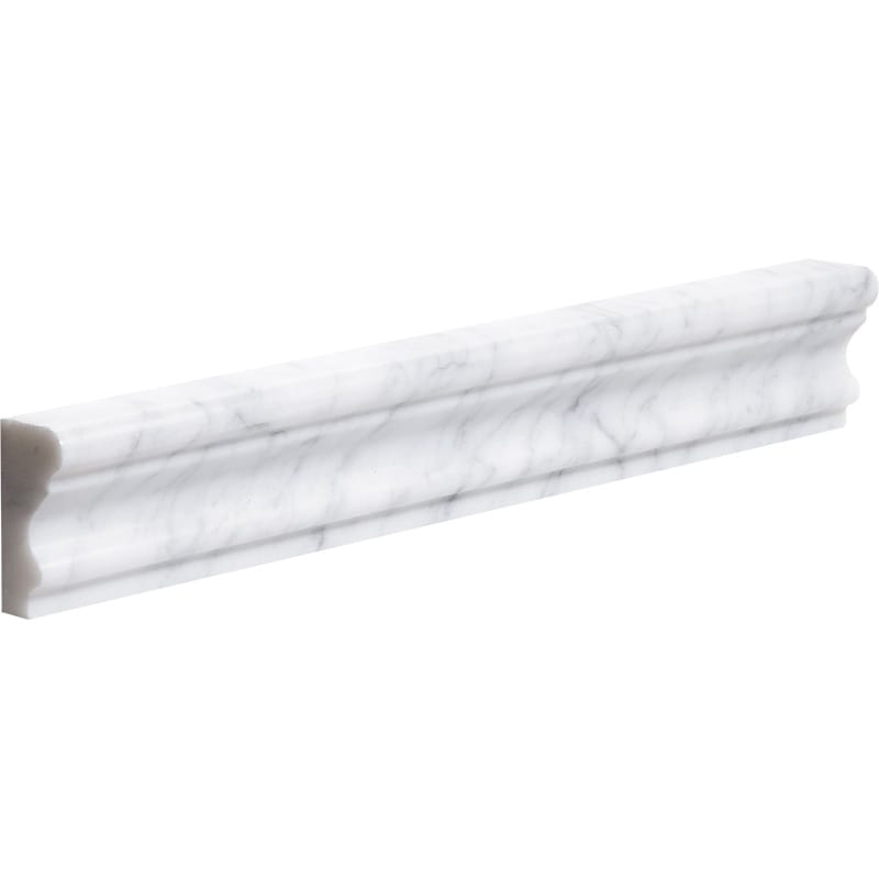 White Carrara C Honed Andorra Marble Mouldings 2x12