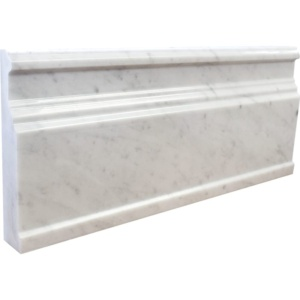 White Carrara Extra Honed Marble Moldings 5x12