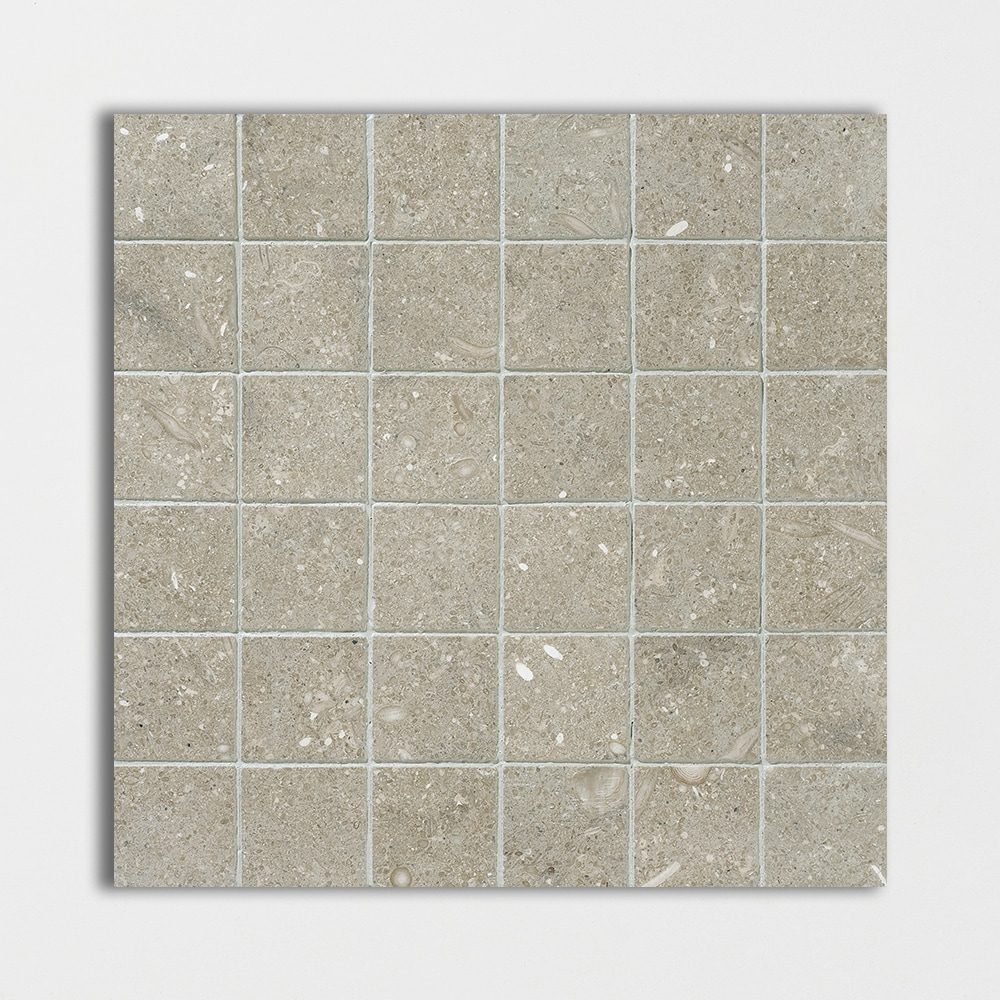Olive Green Honed 12x12 2x2 Limestone Mosaics