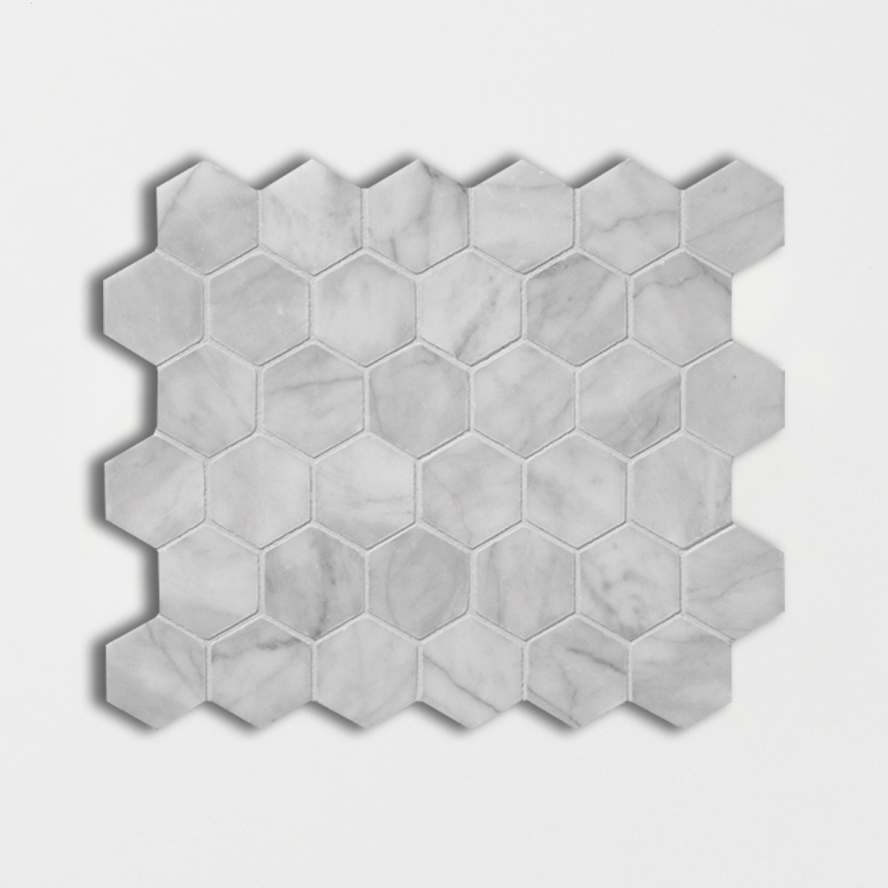 Avenza Honed Hexagon Marble Mosaics 10 3/8x12