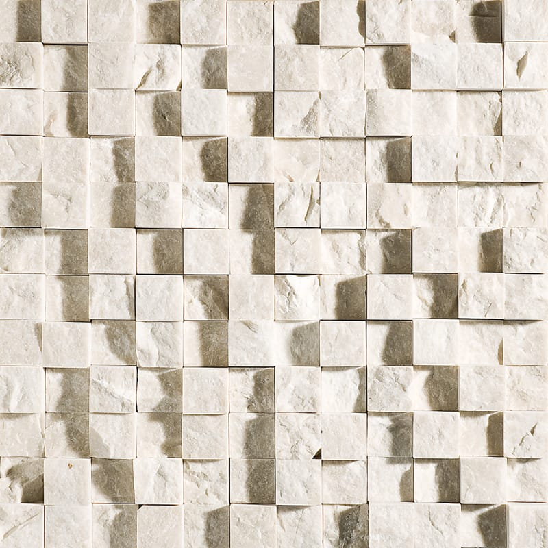 Desert Cream Rock Face 12 5/8x12 5/8 1x1 Marble Wall Mosaics