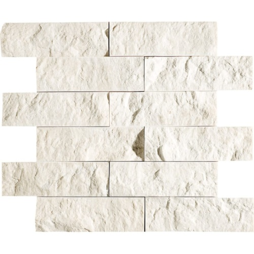 Desert Cream Rock Face 2×6 Marble Mosaics 12×14