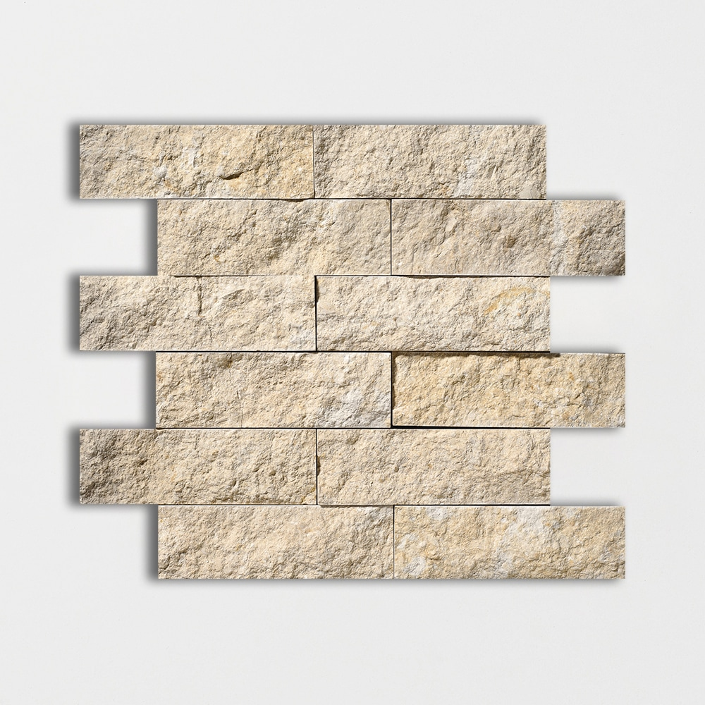 Seashell Rock Face 11 3/4x13 3/4 2x6 Limestone Wall Mosaics