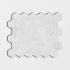 Avalon Polished Hexagon Marble Mosaics 10 3/8x12