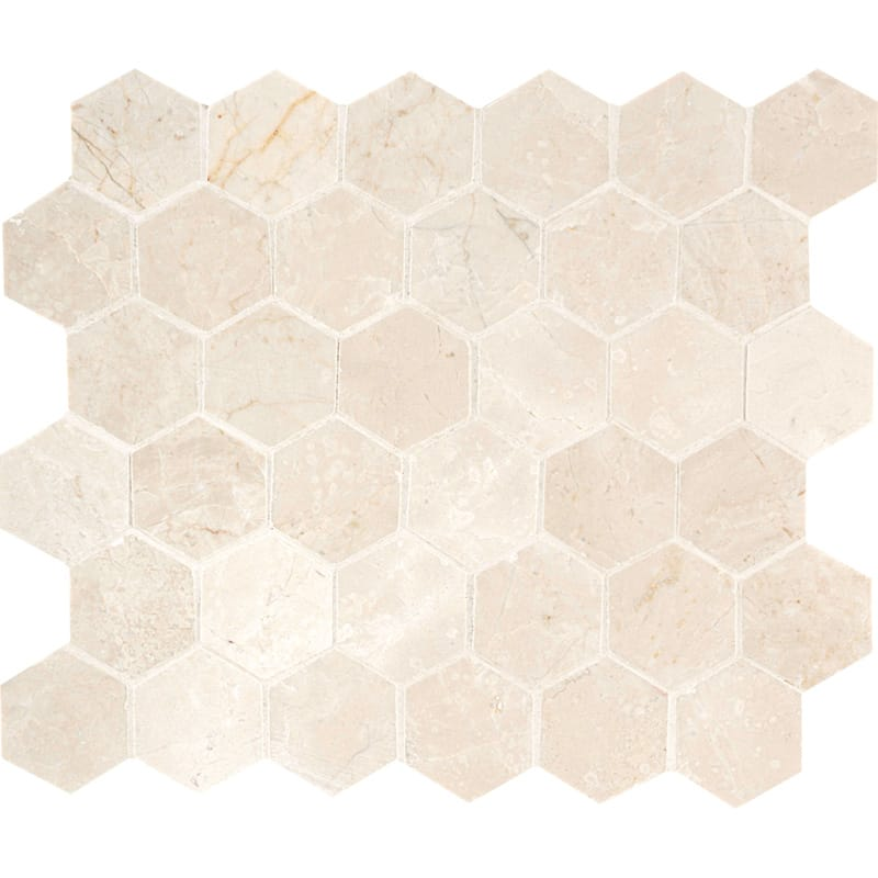 Princeton Polished 10 3/8x12 Hexagon Marble Mosaics
