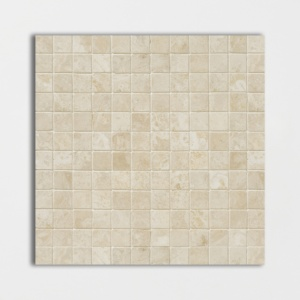 Ivory Honed&filled 1x1 Travertine Mosaics 12x12