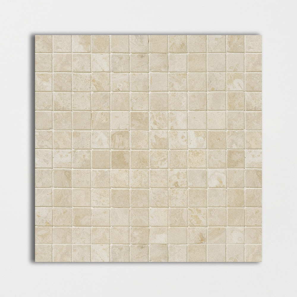 Ivory Honed&filled 12x12 1x1 Travertine Mosaics