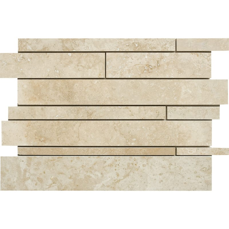 Canyon Honed&filled 11x17 Slides Travertine Mosaics