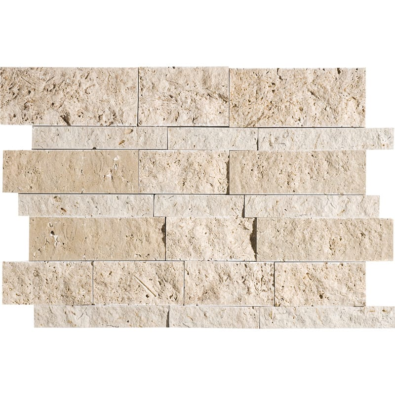 Canyon Split Face Slides Travertine Mosaics 11x17