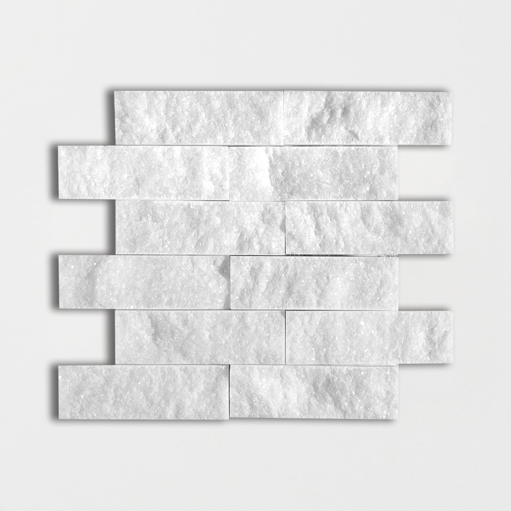 Avalon Rock Face 11 3/4x13 3/4 2x6 Marble Wall Mosaics