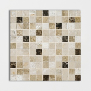 Milano Dark Blend Polished 1x1 Marble Mosaics 12x12