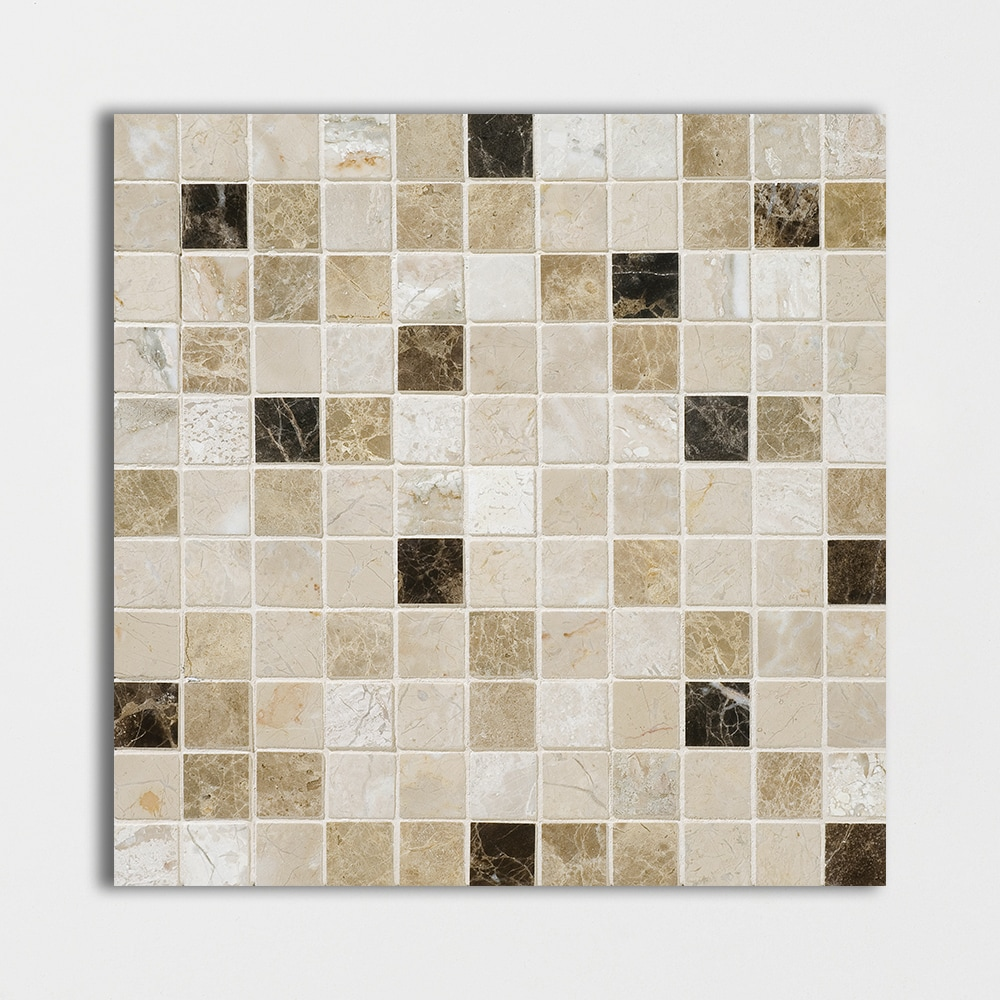 Milano Dark Blend Polished 12x12 1x1 Marble Mosaics