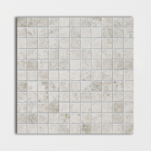 Silver Clouds Polished 1×1 Marble Mosaics 12×12