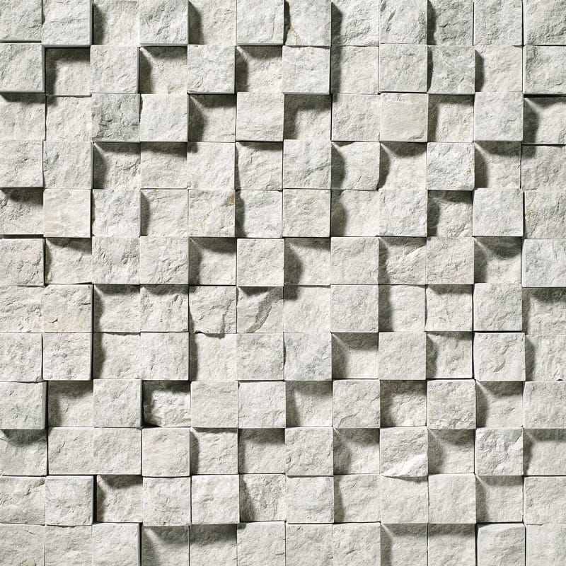 Silver Shadow Rock Face 12 5/8x12 5/8 1x1 Marble Wall Mosaics